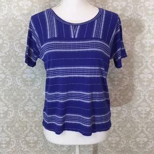 Old Navy Royal Blue/White striped T-shirt